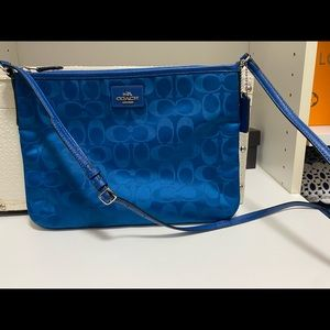 Coach Crossbody Bag - Nylon and Leather